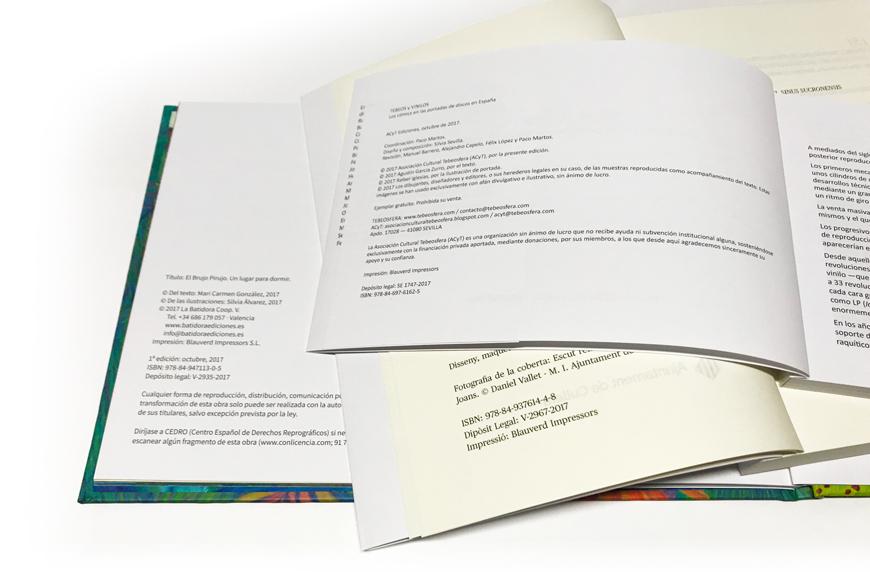 depósito legal e ISBN Imprimir libro Blauverd Impressors