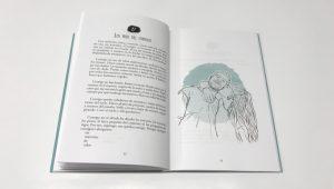 """Escritos íntimos El libro realizado en los talleres de Blauverd Impressors consta de 51 escritos de fácil lectura. Sentimientos como el amor, la pérdida, la ilusión, la esperanza o la rabia se entrecruzan en este libro que cuenta una historia de adiós y construcción personal. Son los sentimientos de una joven que acaba de pasar por una ruptura muy dolorosa. Lluch García escribió """"Aunque hoy sea lunes"""" durante dos años, el tiempo que le costó recomponerse de su primera ruptura y crecer como adulta, para después pasar de sus escritos en su blog personal a imprimir el libro. Los textos de la joven periodista de Alzira invitan a reflexionar sobre el estado del mundo en el que vivimos, las relaciones personales y la soledad. En estos textos cortos a los que acompañan ilustraciones evocadoras la autora se sincera."""