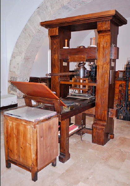 Blauverd Impressors. Año Gutenberg. Imprimir libro