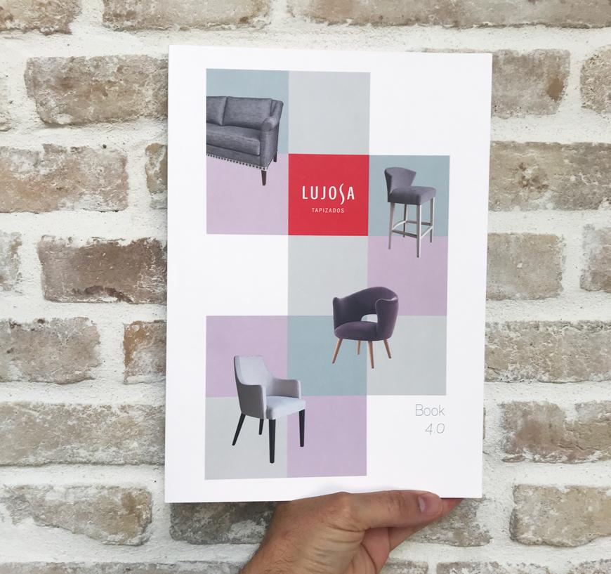 impresion del catalogo de Lujosa Tapizados Blauverd Impressors